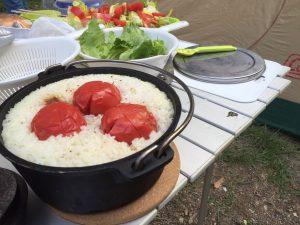 トマトのダッチオーブンの完成写真