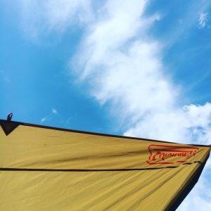 テントと空の写真