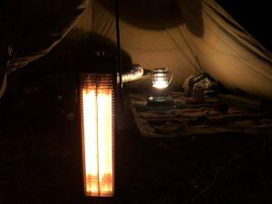 電気ストーブとレインボーストーブ