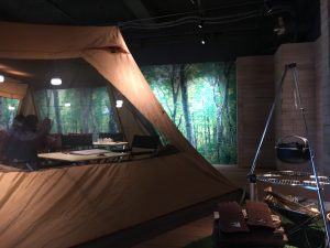 おふろcafe utataneにはテントも張ってあります
