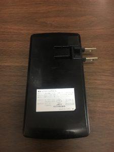 コンセント一体型のモバイルバッテリー