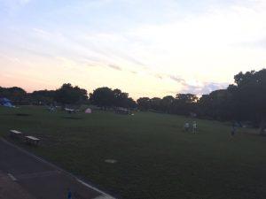 夕方の彩湖グリーンパーク