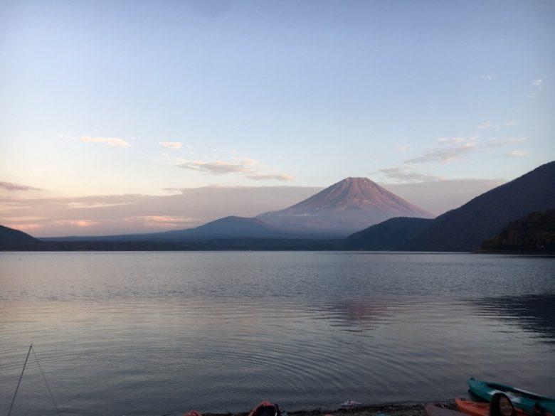 浩庵キャンプ場からの富士山