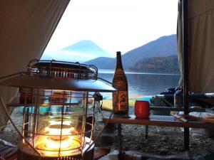 レインボーストーブと富士山