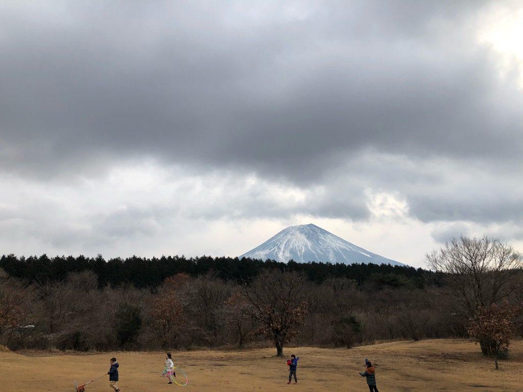 朝霧ジャンボリーの富士山