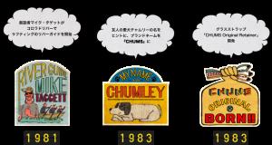 チャムスのロゴの歴史