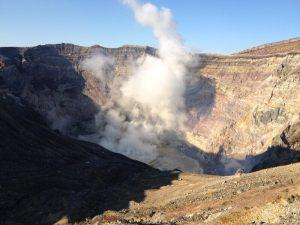 阿蘇山の火山活動の様子