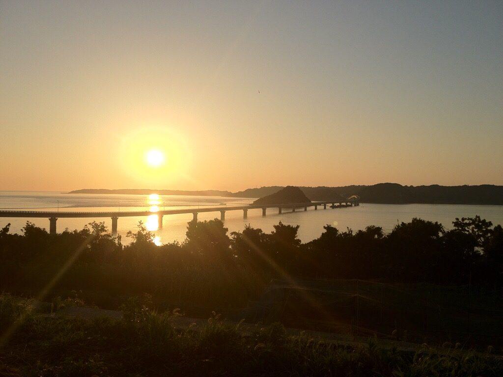 角島大橋の夕焼け