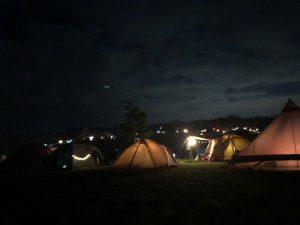 オートキャンプ場の夜景