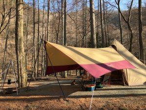 タープを使ったキャンプ