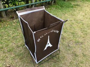 キャンプ用のゴミ箱