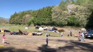 皇海山キャンプフォレストのフリーサイト