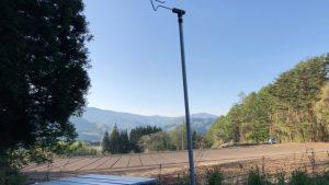 皇海山キャンプフォレストのフリーサイトからの景色