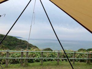 日本海が見えるキャンプ場