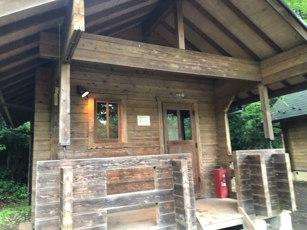 智光山公園のバンガロー