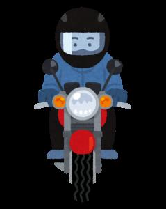 バイクに乗っているイラスト