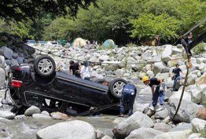 キャンプでの水難事故