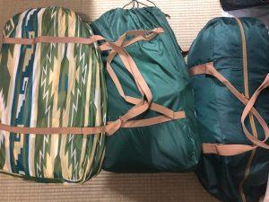 キャンプ旅に持って行ったキャンプ道具