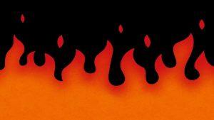 火の海になっている様子