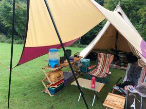 ロースタイルのキャンプサイトの様子