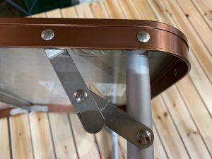 ステンレスファイアーサイドテーブルの脚