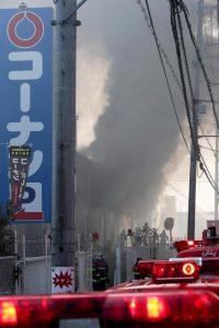 コーナンの倉庫火災