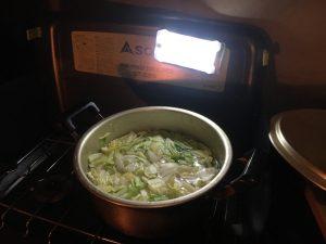 キャンプで鍋料理