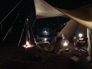 ソロキャンプの様子