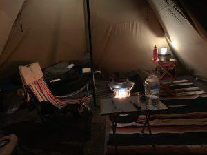 ソロキャンプの様子②