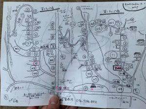 黒坂オートキャンプ場の地図