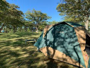 南の池公園でのキャンプ