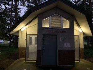 秋山浜キャンプ場のトイレ