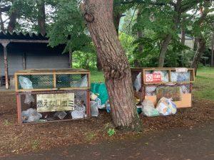舟津浜キャンプ場のゴミ箱