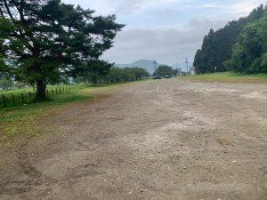 舟津浜キャンプ場の駐車場