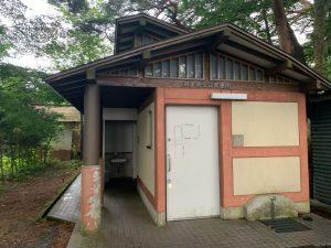 舟津浜キャンプ場のトイレ