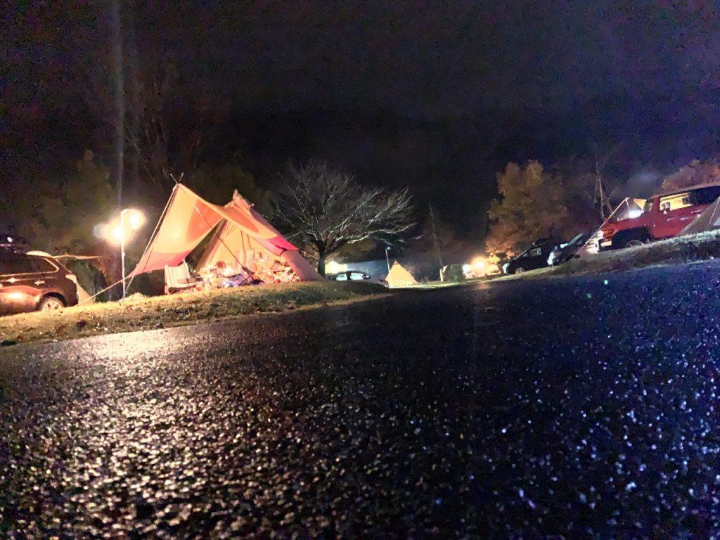 NightCapカメラのキャンプ写真