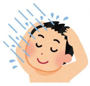 シャワーを浴びる男性イラスト