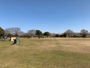野田市スポーツ公園の広場