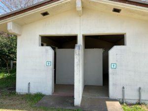 大房岬キャンプ場のトイレ
