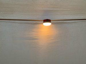タープに設置したハンギングEライト