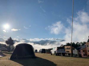 尾瀬いわくらキャンプ場の朝