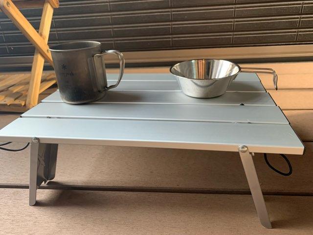 アルミローテーブルの設置模様